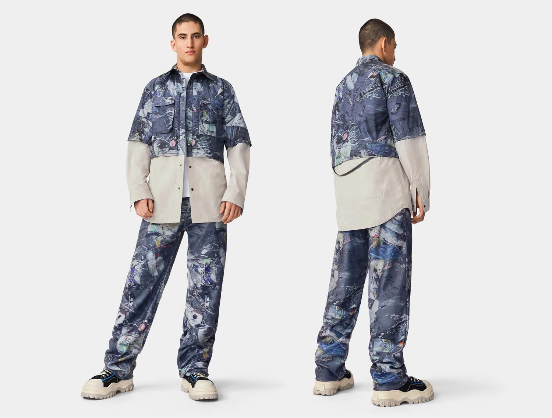 Eytys Benz Pile Print Ocean Camo