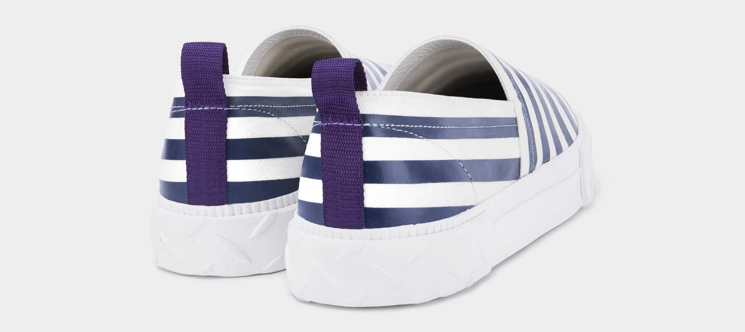 Viper S-O Canvas White / Navy Stripe
