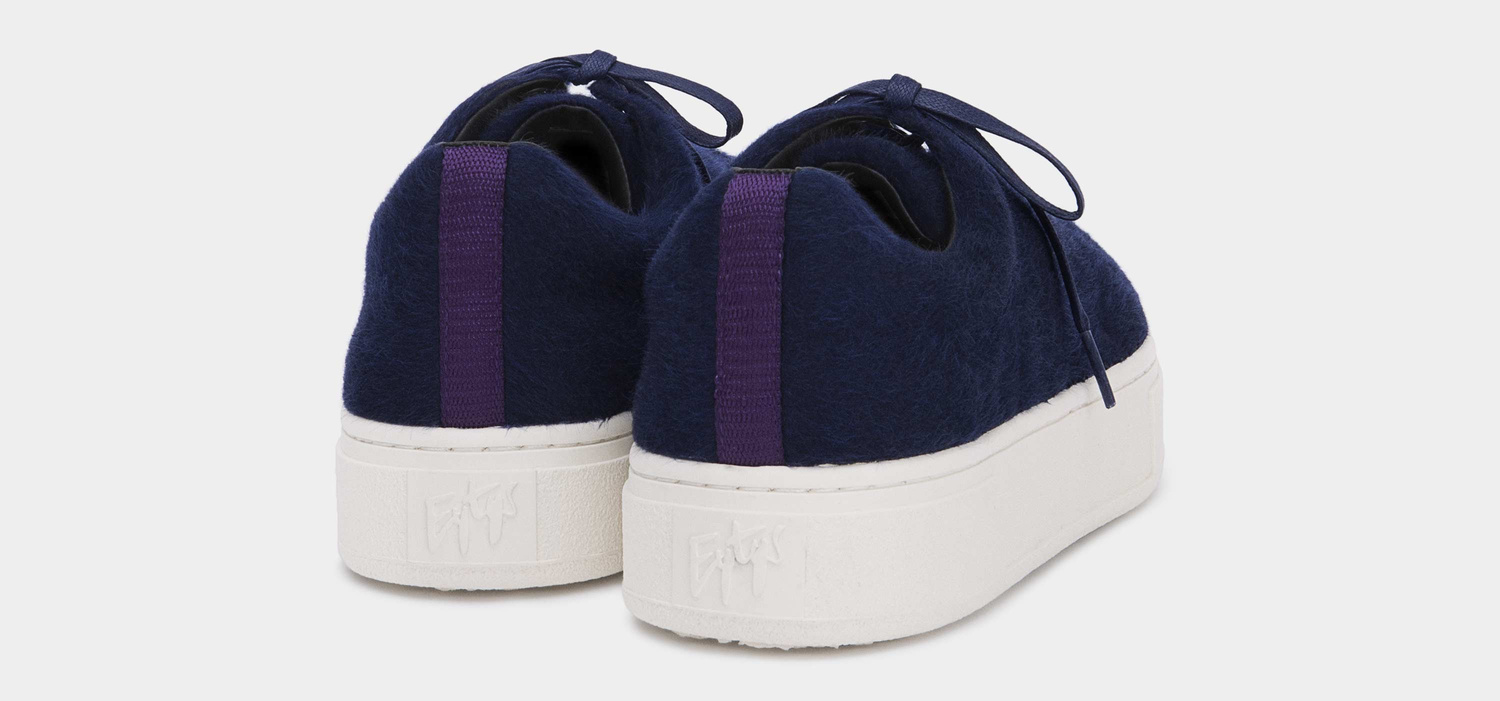Eytys Doja Fake Fur Navy